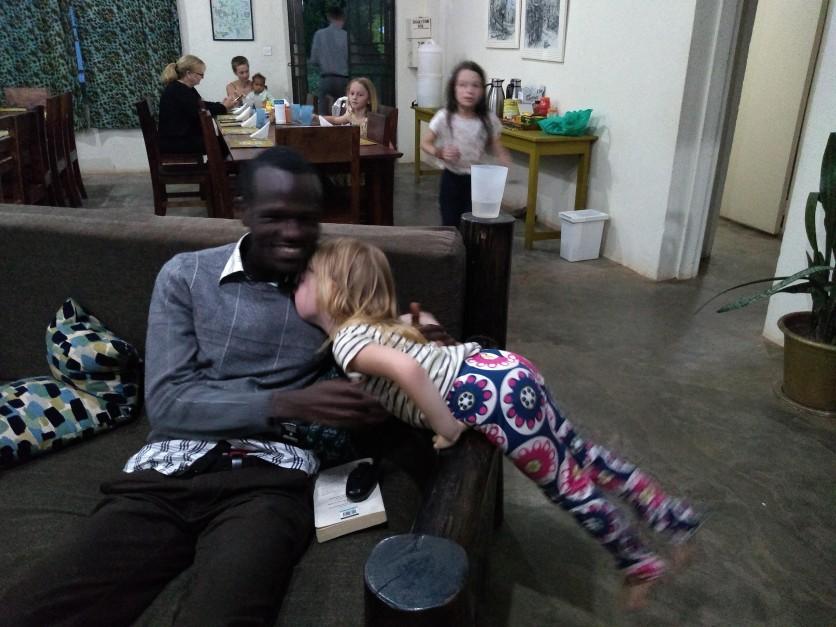 Little Roo cuddling Dr E